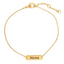Edelstahl MAMA Armband in Gold